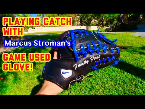 Playing Catch With MARCUS STROMAN'S GAME USED Glove! (1of 1) + Vlog!