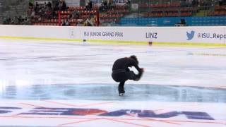 2015 ISU Jr. Grand Prix - Linz Men Short Program Roman GALAY FIN