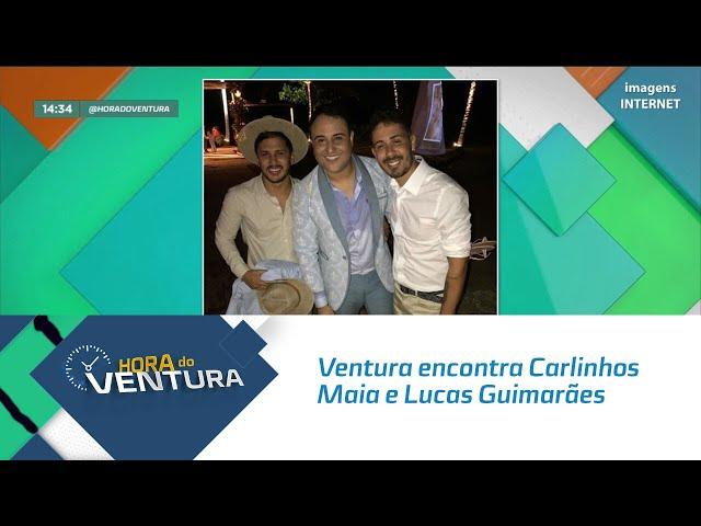 Ventura encontra Carlinhos Maia e Lucas Guimarães no casamento de Mano Walter - Bloco 02