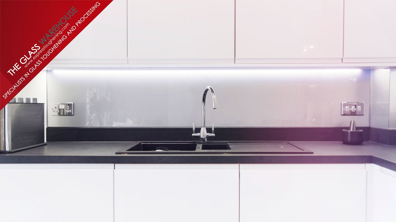 Coloured Glass Kitchen Splashback Installation - By Express ...