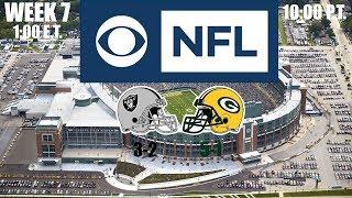 2019 NFL Season - Week 7 - (Prediction) - Raiders at Packers