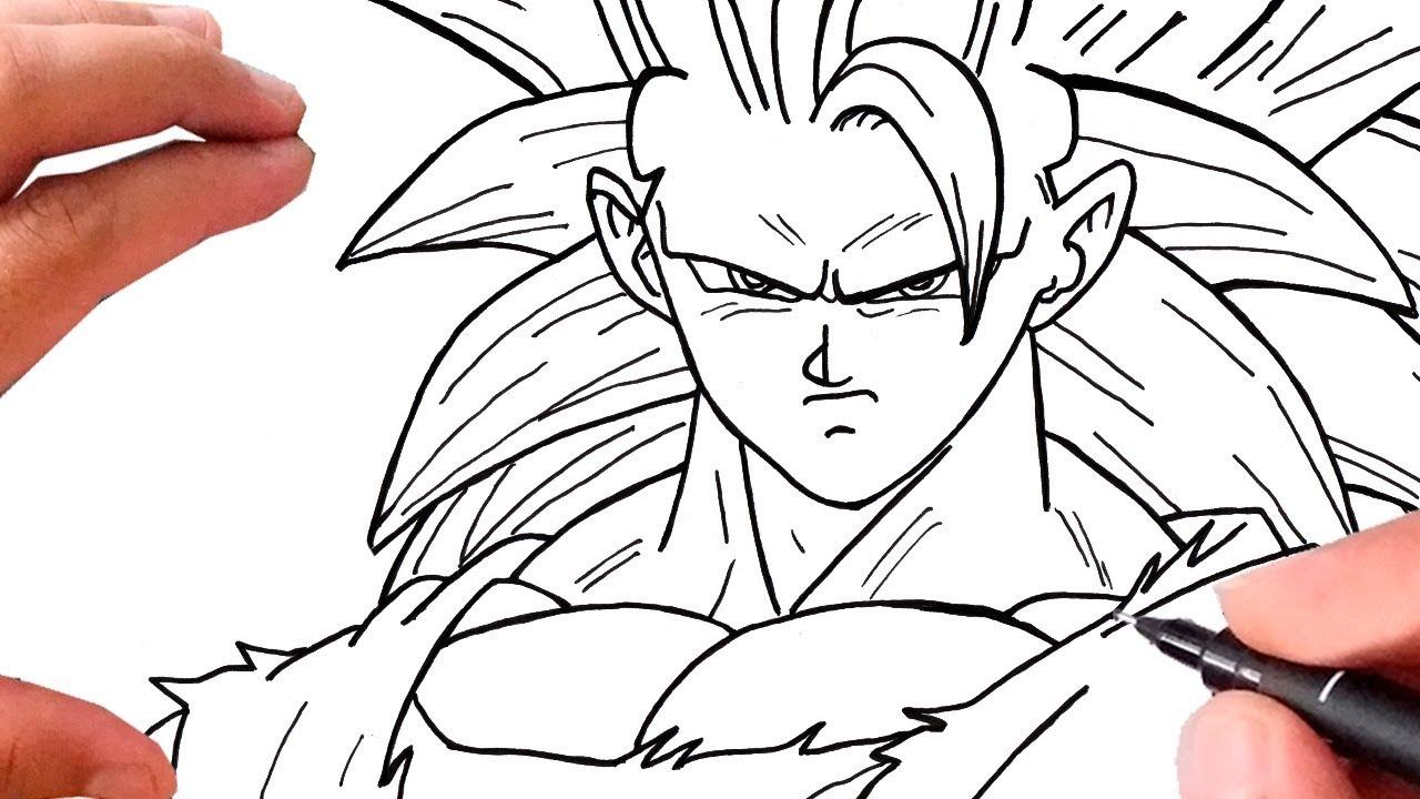 Como Desenhar O Goku Super Sayjin 3 Dragon Ball Z