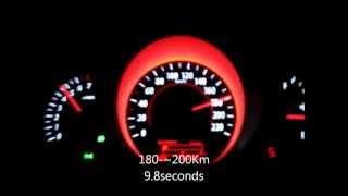 kia cerato koup 2000cc 6AT 2012 EX 0-200km/h speed test