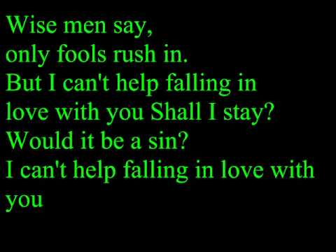 UB40  I Cant Help Falling In Love With YouLyrics
