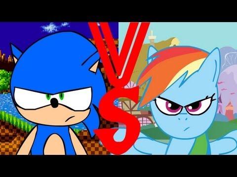 Sonic VS Rainbow Dash. Español Latino Fandub ~UnderVox Studios~