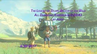 The Legend of Zelda: Breath of the Wild All Dungeons Speedrun in 2:20:42 by jgiga