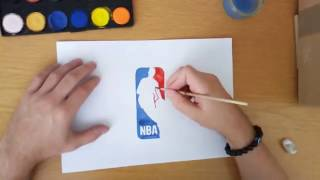 How to draw the NBA logo