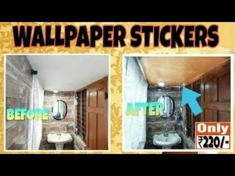 Pvc Wallpaper Sticker From Flipkart Youtube
