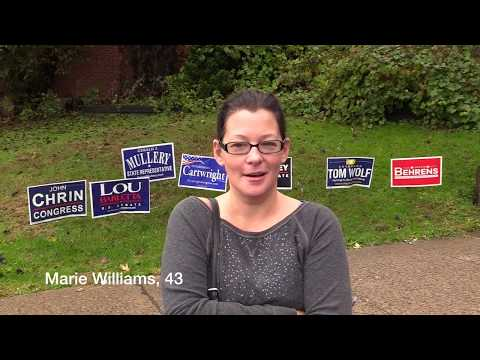 Luzerne County voters talk President Donald Trump at the polls
