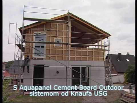 Knauf Aquapanel Cement Board Outdoor - YouTube