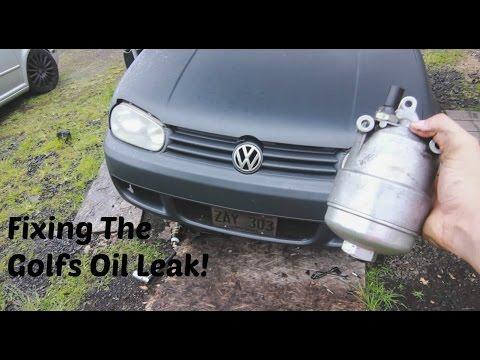 oil leak fix oil cooler  oil filter housing gasket install mk vw golf vr youtube