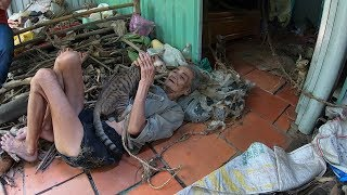 Bà cụ kỳ lạ sống ẩn mình giữa rừng đầy mồ mả, nuôi mèo làm bạn