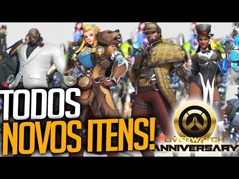 OVERWATCH - TODOS OS ITENS DO NOVO EVENTO ANIVERSÁRIO 2018! - Central thumbnail