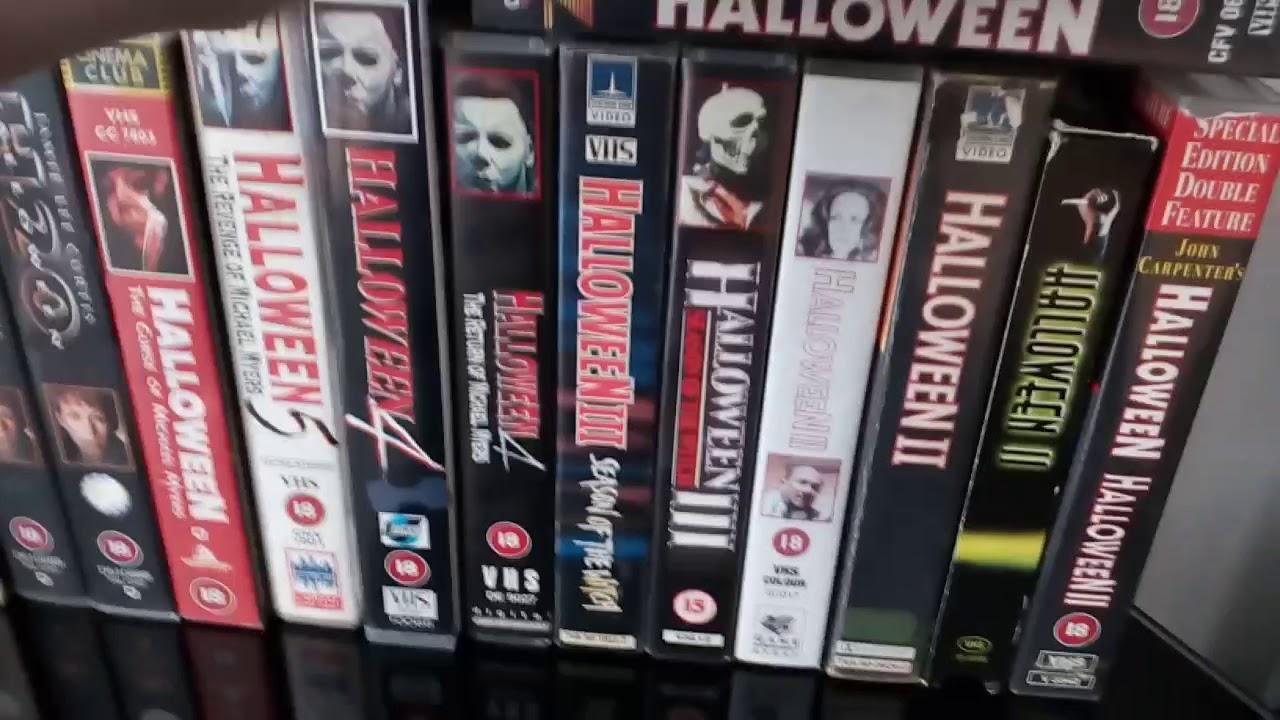halloween vhs collection so far🎃🔪🎃🔪🎃 - youtube