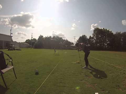 The proper golf swing.