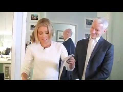 Anderson Cooper And His Boyfriend Ben Backstage With Kelly Ripa