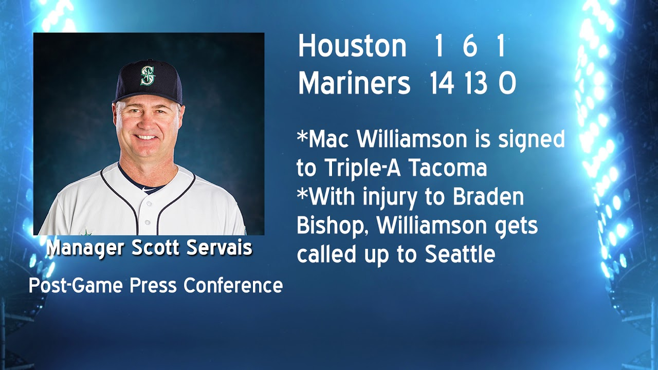 Scott Servais on Mac Williamson 2019-06-05