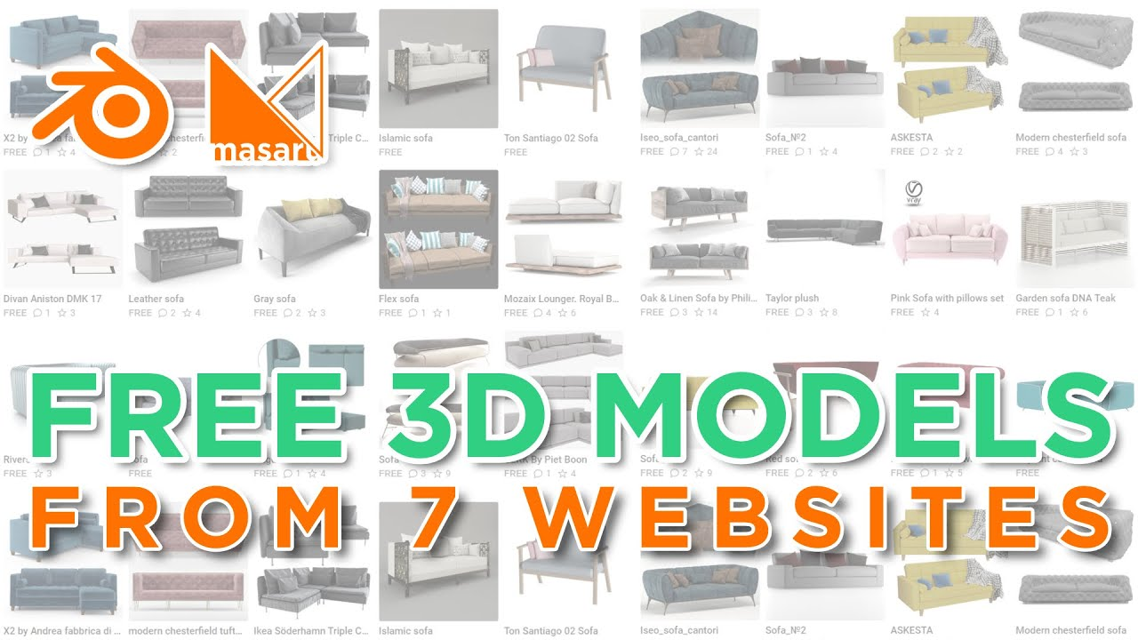 FREE 3D MODELS for Blender (And how to use them)