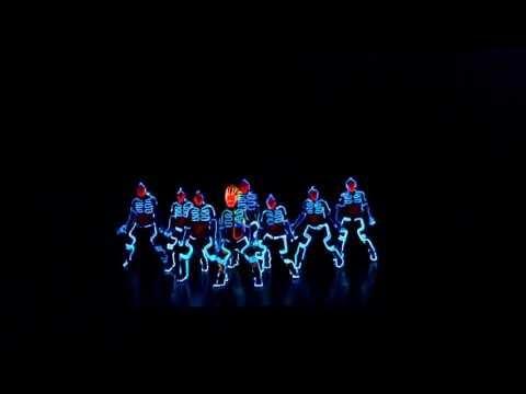 Видео, Невероятное световое шоу Dubstep dance