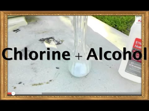 Reaction between chlorine tablets and alcohol