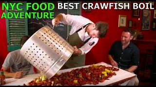 NYC's Most Authentic Crawfish Boil & Cajun & Creole Gumbo at Gumbo Bros - NY1 Food Adventure