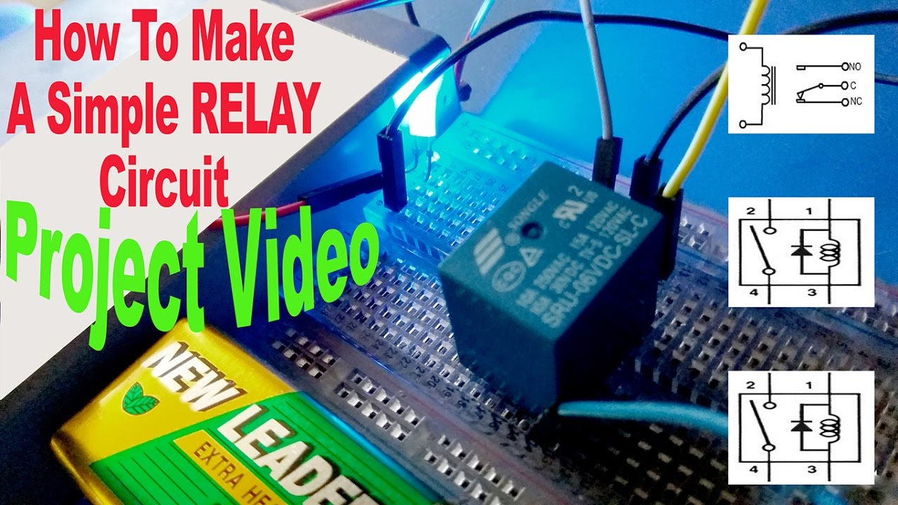 Make A Simple Relay Circuit Automatic Switch On Off 5 Volt Diagram Ashiqs Theory