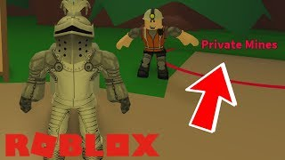 GETTING OUR OWN PRIVATE MINE! Roblox Mining Simulator