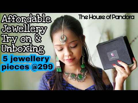 AFFORDABLE JEWELLRY TRY ON AND UNBOXING || THE HOUSE OF PANDORA @ 299 SUBSCRIPTION BOX || INDIA