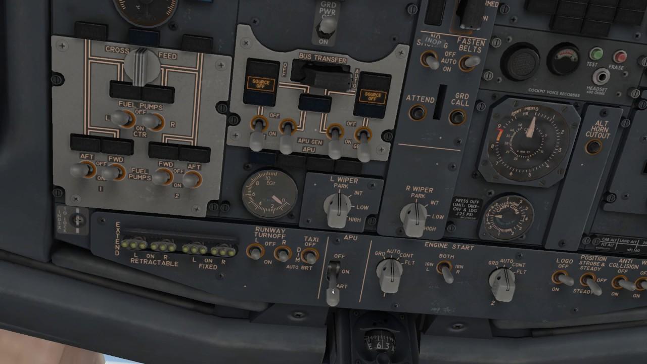 X-Plane 11 737 Cold Startup