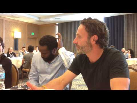 Walking Dead at SDCC 2013 with Andrew Lincoln, Chad Coleman, Gale Anne Hurd, and David Alpert!