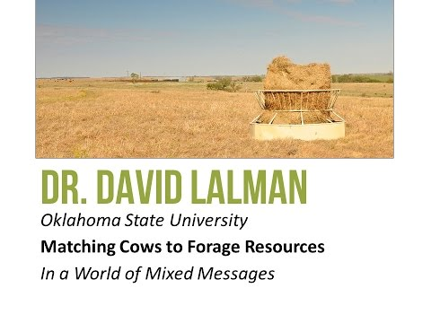 Matching Cows to Forage Resources