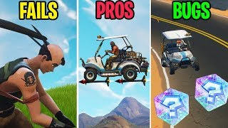 MARIO KART in Fortnite! FAILS vs BUGS vs PROS! Fortnite Funny Moments