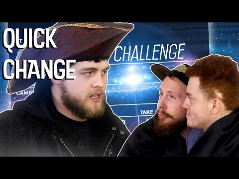 QUICK CHANGE CHALLENGE! | TOUCH MY PINKY! w/ Red, Preston, Gerry and Evan!