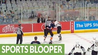 devastating knockout during ahl hockey brawl