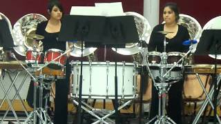 "Delle and Sienna percussion duet ""Double Take"""