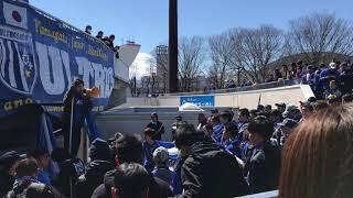 ホーム開幕戦町田ゼルビア戦前の決起集会の様子です.