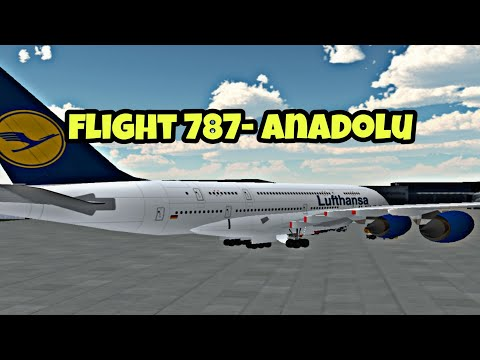 Flight 787 - advanced - lufthansa air bus from marocco airport to lithuania airport