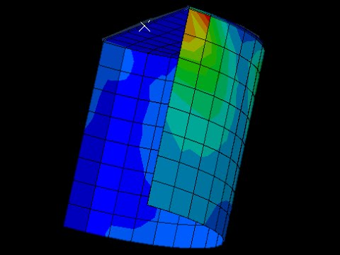 finite element model (offshore foundation for a wind turbine)