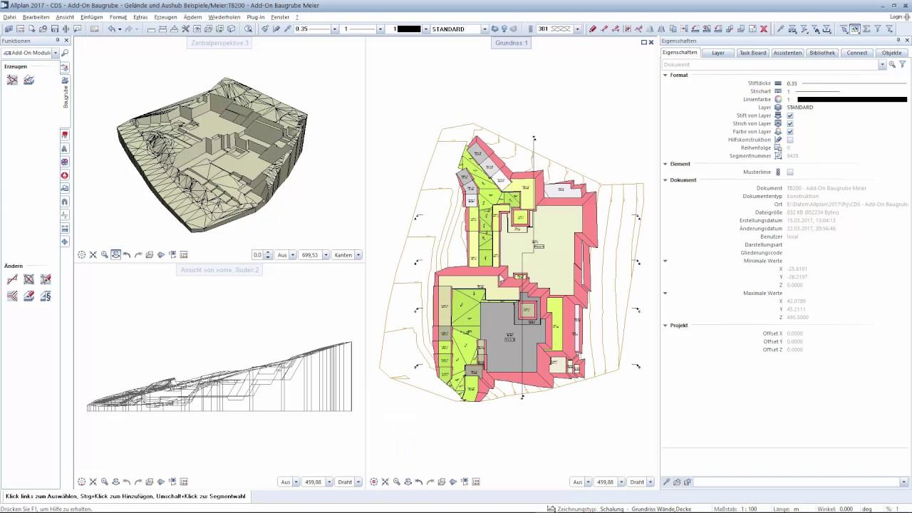 Allplan Add On Baugrube   Gelände 2D Und 3D Ableiten