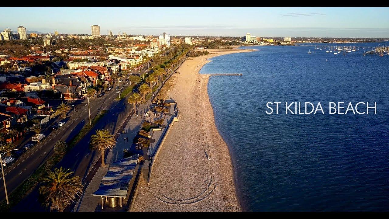St Kilda Beach Melbourne Drone 4k