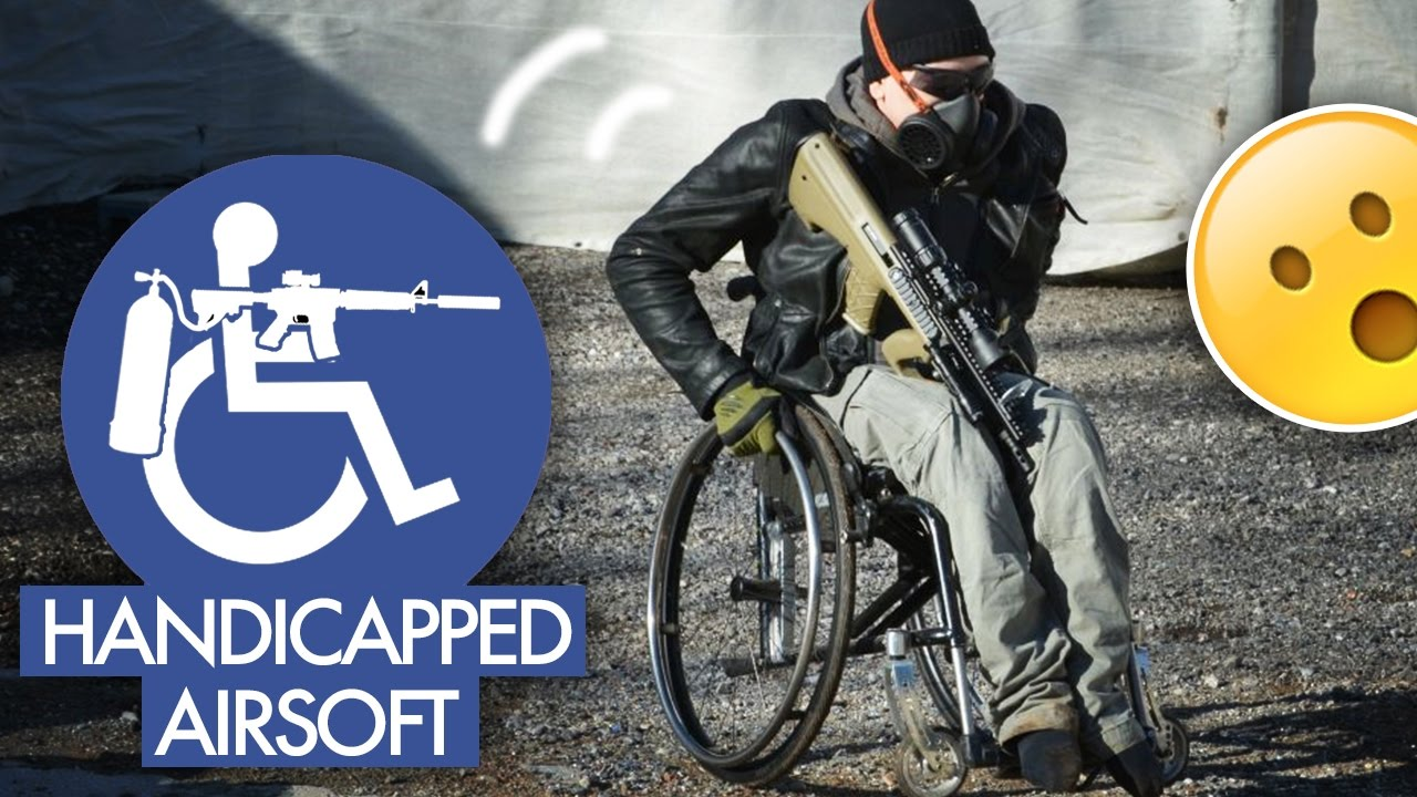 Handicapped In Wheelchair Plays Airsoft Youtube