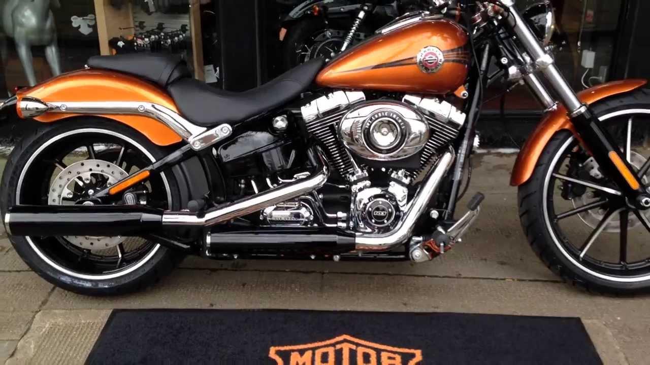 Harley Breakout Cvo >> 2014 SOFTAIL BREAKOUT FXSB AMBER WHISKEY @ West Coast Harley-Davidson, Glasgow, Scotland - YouTube