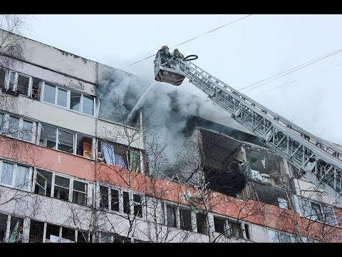 Момент взрыва в Санкт-Петербурге в Красносельском районе на пр. Народного ополчения