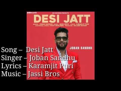 Desi jatt Joban Sandhu | desi jatt song | Joban sandhu NEW SONG