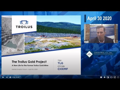 Justin Reid of Troilus Gold Corp. at the Virtual Metals Investor Forum on Thursday April 30th 2020