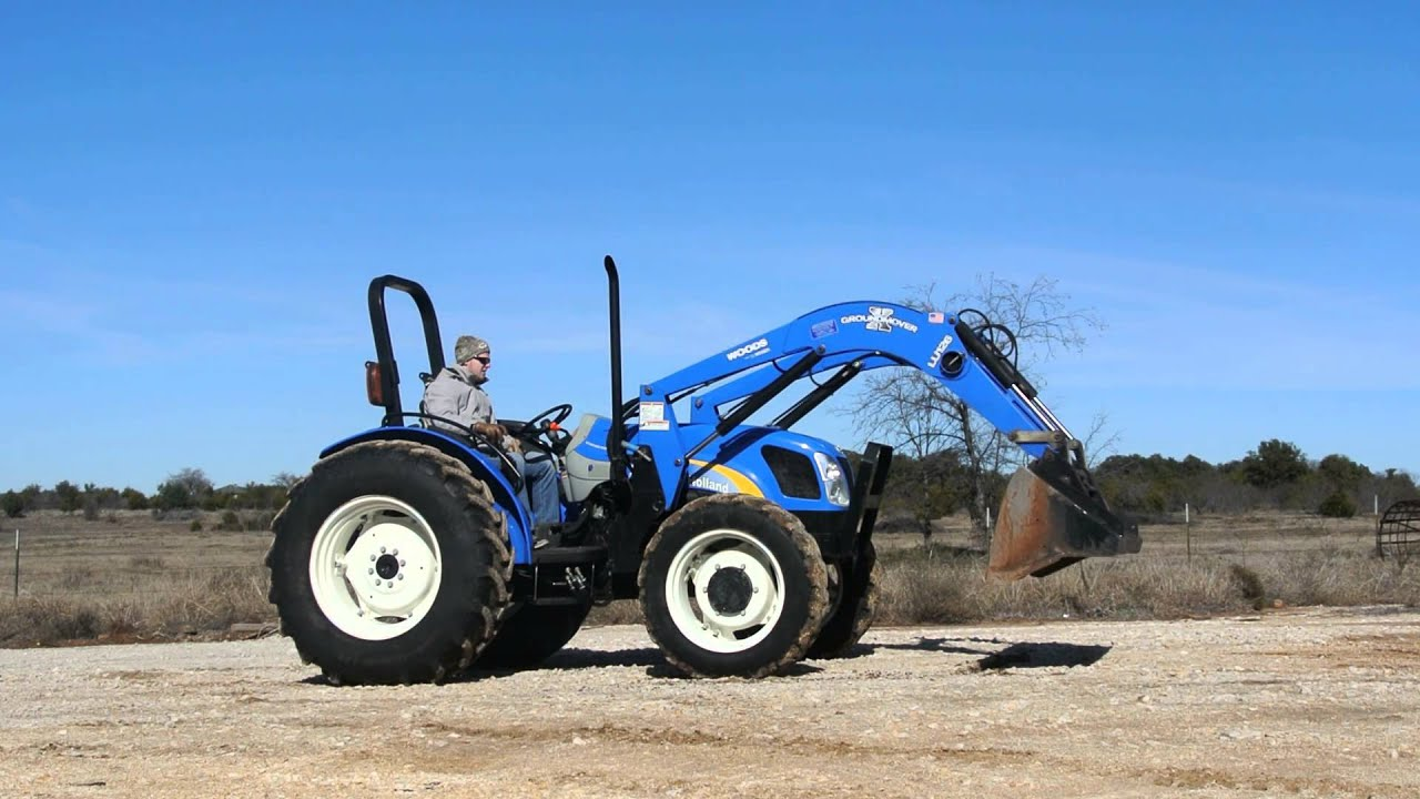 Demo of New Holland T4020 Tractor w/ Loader, 4WD, Great Condition, Gear  Shift Transmission