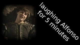 Alfonso of Naples laughing for 5 minutes