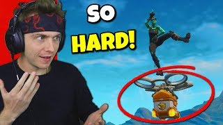 i can only use supply drone loot in fortnite... (so hard)