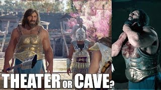 Fight The Monger At The Theater VS The Cave (All Choices) Assassin's Creed Odyssey