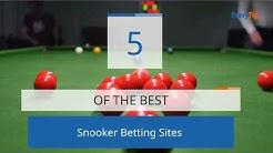 Best Snooker Betting Sites